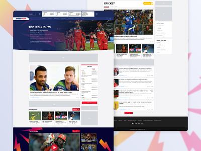 Sportsinfo Home Page cricket livescore homepage colors sportsinfo sports icon typography logo gradient ux ui vector design