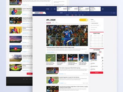 Sportsinfo Tournament Articles thumbnails list video player card scorecard scores articles minimal icon sports branding web gradient illustration vector ux ui design