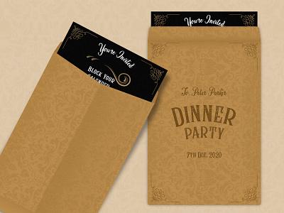 Vintage Invitation Card vintage fonts vintage vintage font black cover card brown invitation card minimal typography illustration gradient vector design
