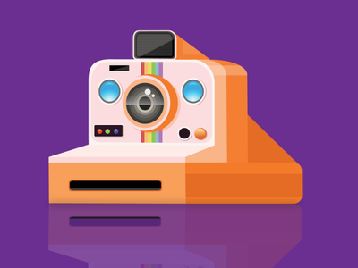 Polaroid vintage camera game object graphic design artwork logo projector rainbow ui buttons animation flashlight lights lance illustration game art design vintage camera vintage design gradients illustrator vectorart camera