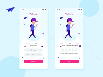 Login Screen mobile otp sign in sign up signup login login ui app design login screen artwork branding minimal app typography gradient illustration ux ui vector design