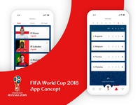 FIFA World Cup 2018 App Concept
