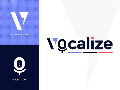 Vocalize Logo voice vocal logo logo design branding
