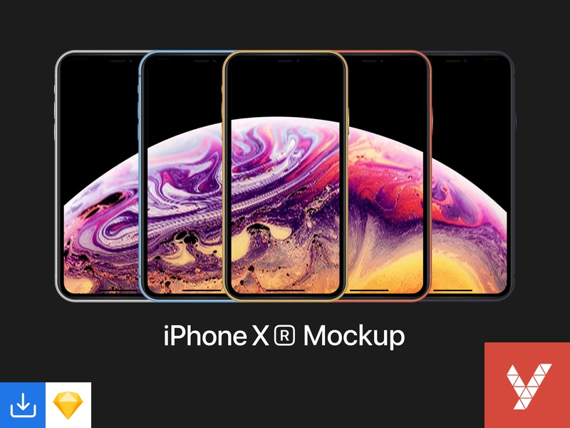 iPhone XR Mockup device apple devices apple vector sketch variants iphone xr xr iphone mockup design