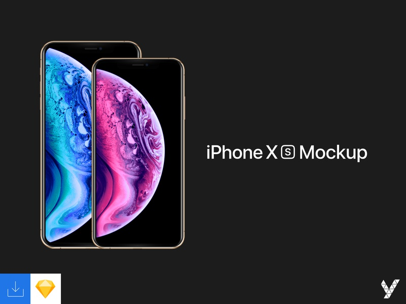 iPhone XS/Max Mockup svg design device mockup iphone iphone xs max iphone xs variants sketch vector apple apple devices device