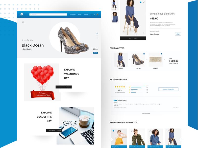 E - commerce website exploration ecommerce website anywhere anytime shopping daily ux ui typography websitedesign website web