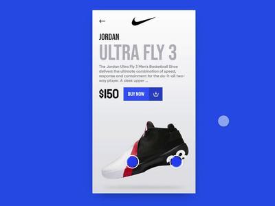 Nike Shoes Customisation Concept fitness shop buy ecommerce invisionapp custom customisation shoes ultra fly jordan vector ui design nike