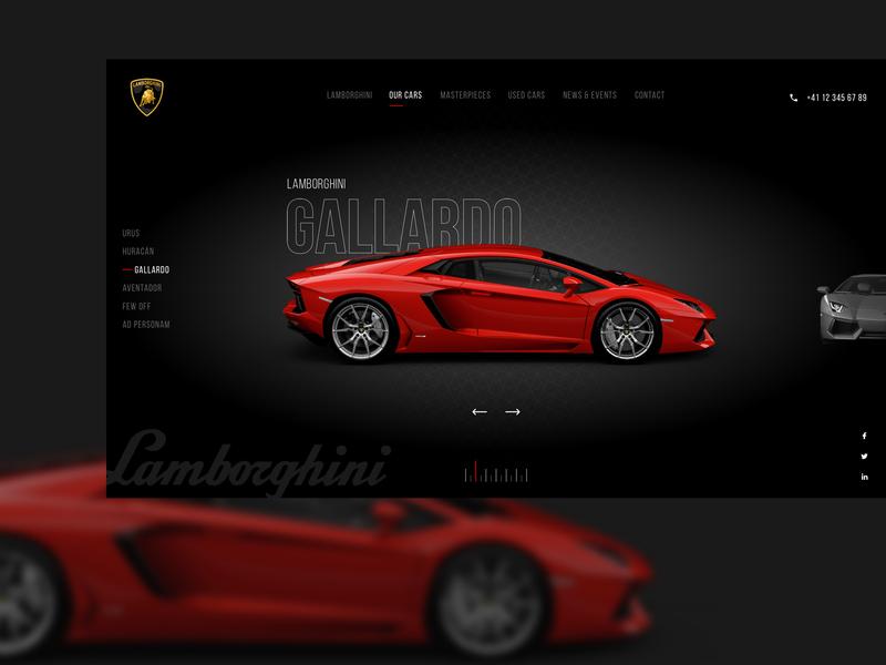 Automobile Web UI sprorts car car title navigation web banner website typography logo web ux vector ui design
