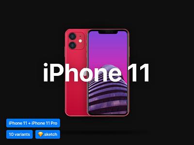 [Sketch] iPhone 11 Mockup phone design symbols editable vector variants device mockup mockup apple sketch iphone 11 iphone easy to use realistic mockup realistic free freebie