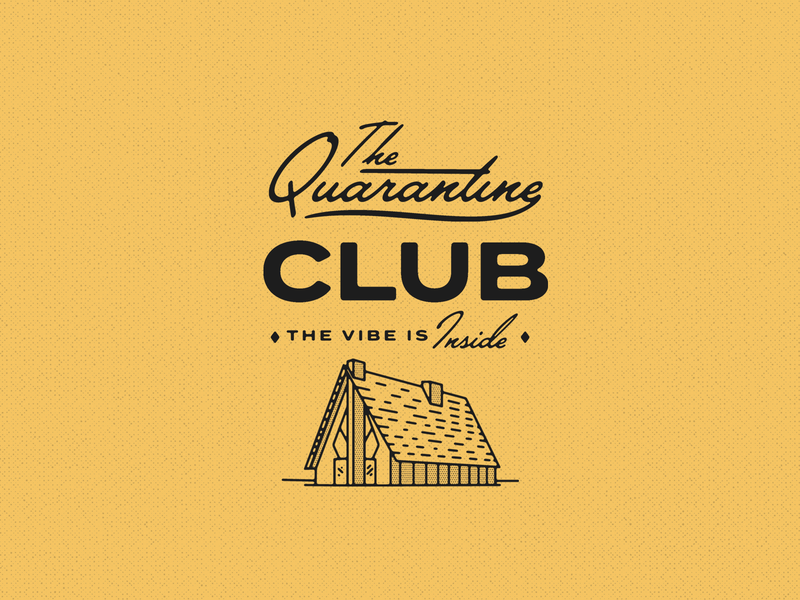 Join the club... type logotype mark vector illustrator brand isolation script logo quarantine design branding typogaphy illustration