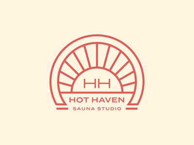 Hot Haven logo mark illustration branding