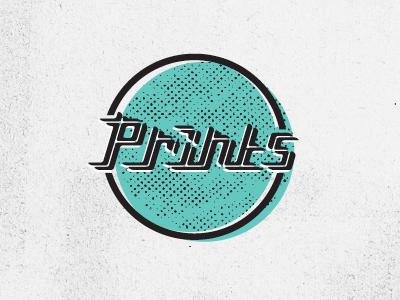 Prints - Indie Rock Band Logo circle halftone mis-registration lettering type logo music band prints