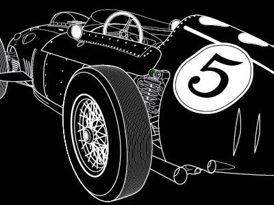 Ferrari ferrari car black and white illustration vector racer