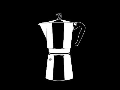 Coffeeeee coffee illustration black and white moka