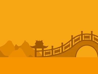 Bridge landscape architecture chinese china yellow bridge