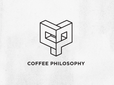 Coffee philosophy concept 01 branding mark logo perspective geometry polygon coffee