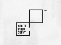 Coffee Philosophy tm type coffee logo geometry