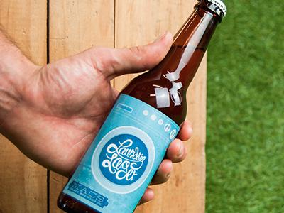 Printed Label beer label bottle script lettering aldine laundry lager washing machine