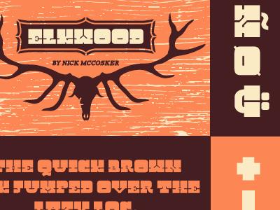 Elkwood Specimen Poster type specimen poster type design font slab