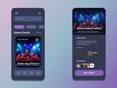 Event App app ux design ui