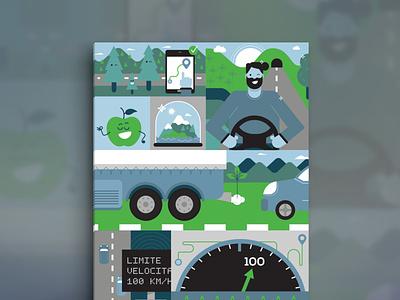 Brenner LEC web component illustration vector character ui app illustration
