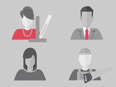 Jobs Avatar  avatar icons infographic