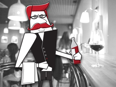 Rejected character wine tasting sommelier host character design