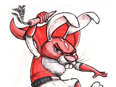 Day 27 of the Inktober Challenge inktober pen  ink drawing study character design sketch comic humor hare