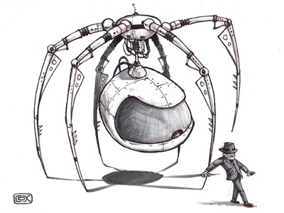 Day 30 of the #inktober challenge. inktober pen  ink drawing color pencil sketch humor character design spider