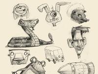 Doodles week of 12 3 12