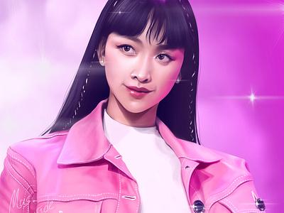 Dita Karang digital painting portrait illustration fanart