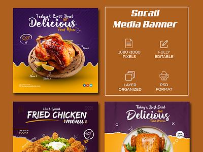 Social Media Banner graphic design banner design food banner