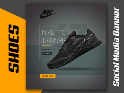 Shoes Instagram Web Banner or Social Media Banner shoes sneakers footware banner ad branding illustration nike design product banner graphic design banner design