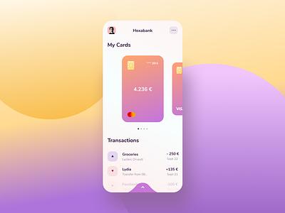 Hexabank Mobile App interface app ui bank