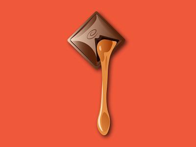 Chocolate caramel dribbble design illustration vector