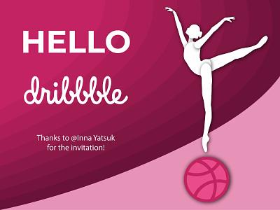 Hello Dribbble! design dribbble invitation hello dribbble illustration