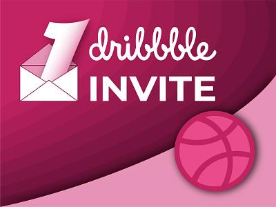 One Dribbble Invit vector happinessdesigns dribbble invitation dribbble illustration invite