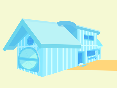 House in the Morning perspective sunny morning illustration house