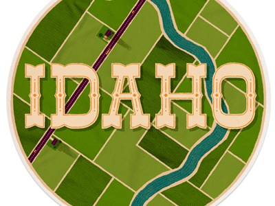 Idaho illustrations lettering idaho everywhere project river farms fields