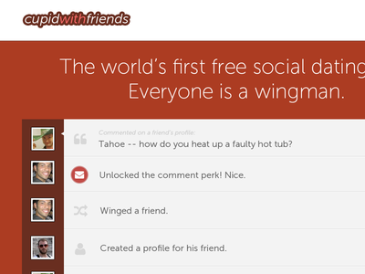 CupidWithFriends Home Page