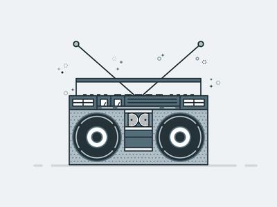 Funky Beat icon volume play funky bass beat radio music boom box boombox
