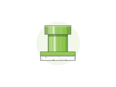 Tubular warp nintendo illustration icon tube mario
