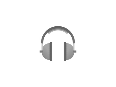 Headphones music listen illustration icon headphones