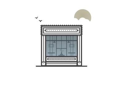 Cafe Hip sun tea hipster illustration icon coffee cafe