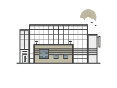 Warehouse illustration icon building warehouse
