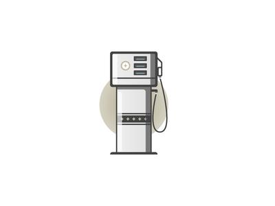 Gas Pump illustration icon gasoline gas pump gas