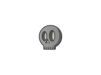 Skull illustration icon skull