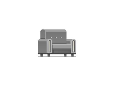 Sofa  illustration icon love seat couch sofa