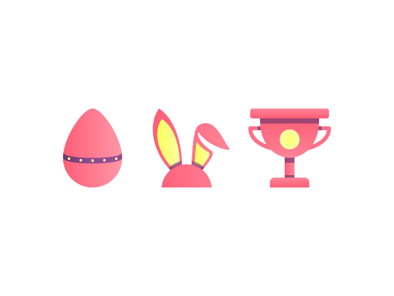 Easter Icons church rabbit prize bunny egg easter