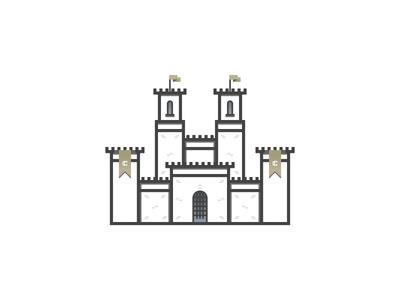 Castle Invites illustration icon invites castle